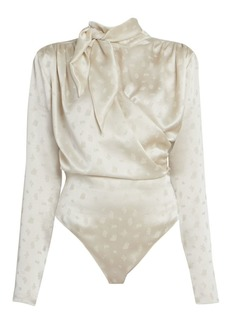 Magda Butrym Tieneck Silk Bodysuit