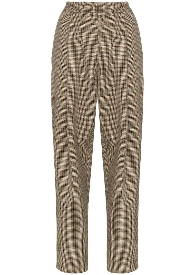 Magda Butrym Totness heritage-check trousers