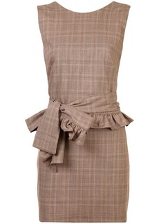 Maggie Marilyn belted check mini dress