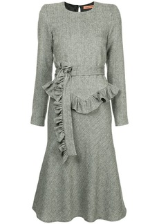 Maggie Marilyn belted herringbone dress