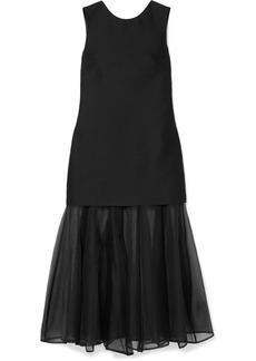 Maggie Marilyn Find Strength In Your Identity Crepe And Silk-chiffon Midi Dress