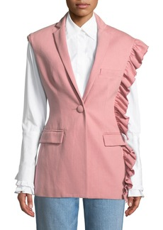 Maggie Marilyn Girl With A Dream Shoulder-Ruffle Vest