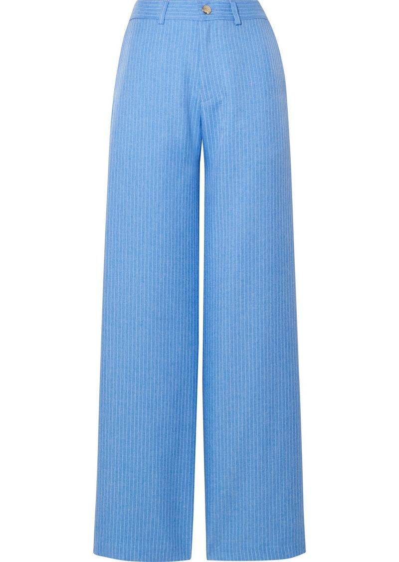 Maggie Marilyn Net Sustain Go Getter Pinstriped Woven Straight-leg Pants