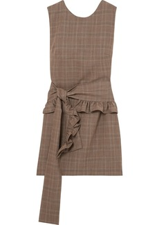 Maggie Marilyn I've Got Your Back Belted Checked Organic Wool Mini Dress