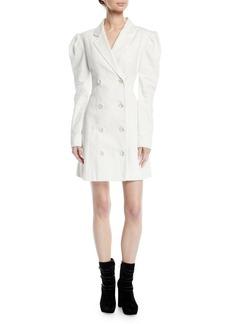 Maggie Marilyn Leap Of Faith Puff-Sleeve Cotton Blazer Dress