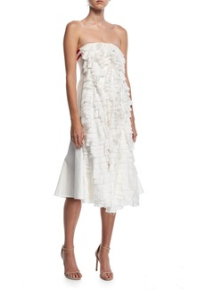 Maggie Marilyn One Sunny Day Strapless Cotton Dress