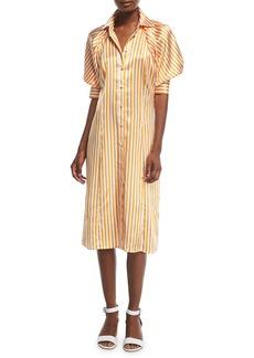 Maggie Marilyn Toni's Striped Silk Shirtdress