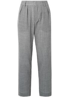 Maggie Marilyn Woman Bobbi Houndstooth Wool-blend Straight-leg Pants Dark Gray