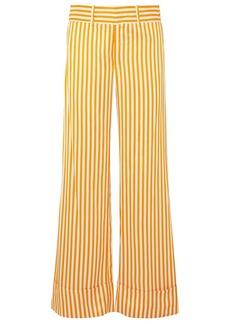Maggie Marilyn Woman Striped Twill Wide-leg Pants Marigold