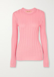 Maggie Marilyn Net Sustain The Sherbet Wool-blend Ribbed-knit Sweater