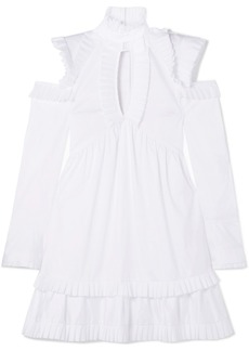Maggie Marilyn Olivia's Cutout Ruffled Cotton-poplin Dress