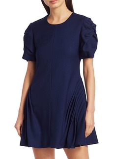 Maggie Marilyn Prove Them Wrong Puff-Sleeve Mini Wool Shift Dress
