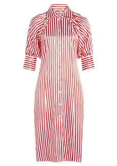 Maggie Marilyn Tonis Striped Silk Shirt Dress