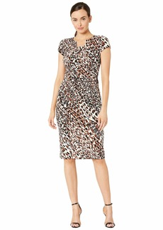 Maggy London Animal Print Texture Sheath Dress