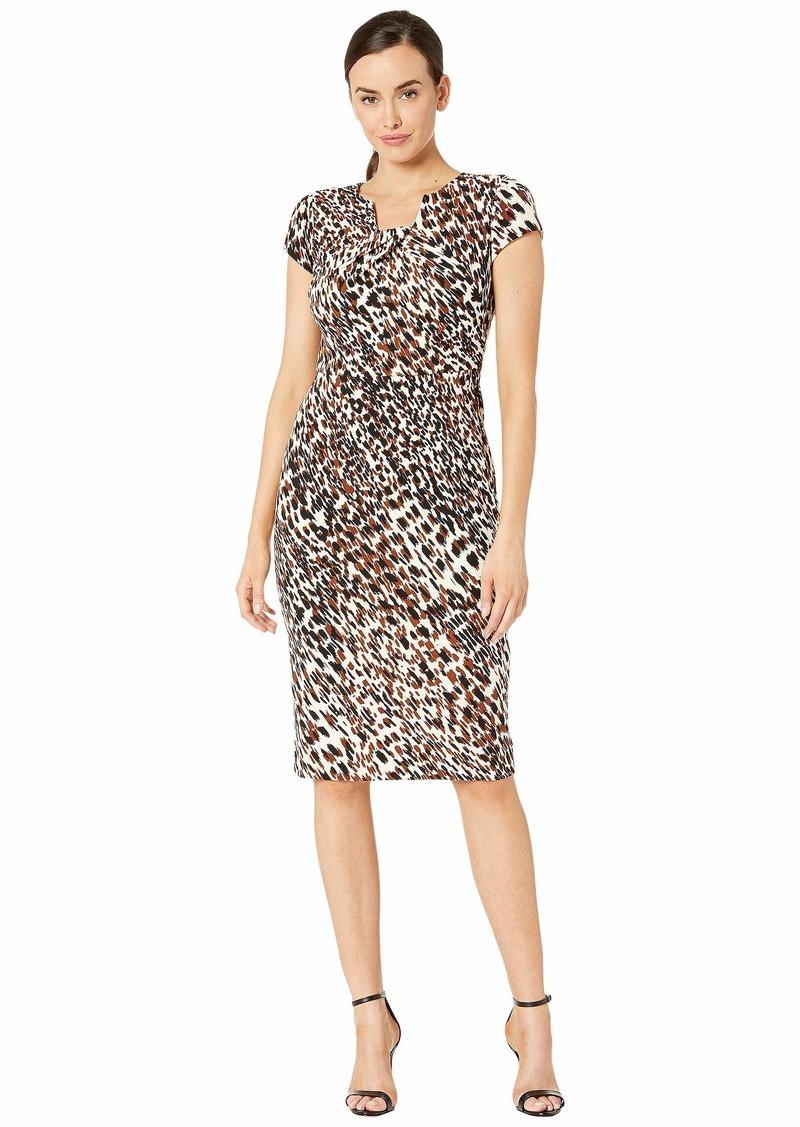 Maggy London Animal Print Texture Sheath Dress