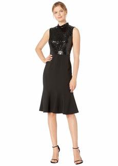 Maggy London Band Collar Mermaid Dress