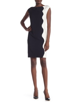 2ce49072 Maggy London Maggy London Illusion Yoke Crepe Sheath Dress (Regular ...