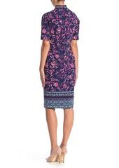 Maggy London Border Print Sheath Dress (Petite)