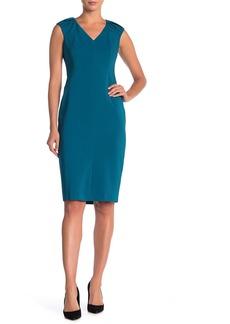 Maggy London Cap Sleeve Knee-Length Sheath Dress