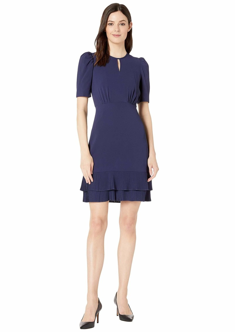 Maggy London Catalina Crepe Draped Sleeve Dress