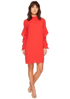 Maggy London Catalina Crepe Ruffle Dress