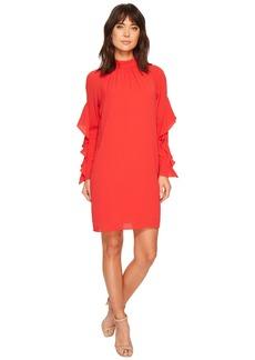 Maggy London Catalina Crepe Ruffle Dress