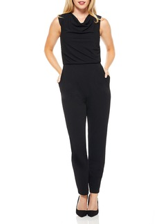 Maggy London Cowl-Neck Sleeveless Jumpsuit