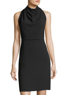 Maggy London Crepe Cowl-Neck Sheath Dress