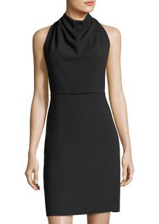 Maggy London Crepe Cowl-Neck Sheath Dress