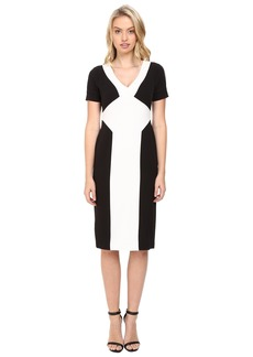 Maggy London Crepe Scuba Colorblock Sheath Dress