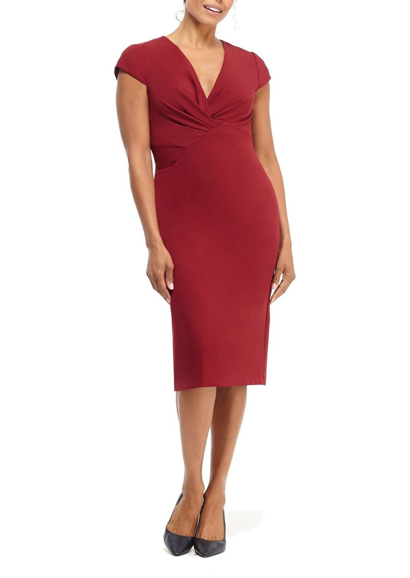 Maggy London Desk to Dinner Crepe Sheath Dress