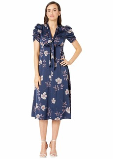 Maggy London Dogwood Floral Printed Fit and Flare Dress