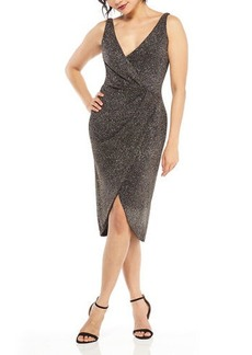 Maggy London Draped Glitter Sheath Dress
