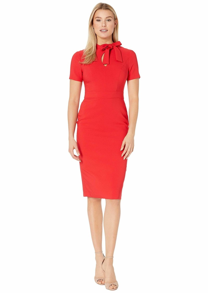 Maggy London Dream Crepe Sheath with Neck Tie