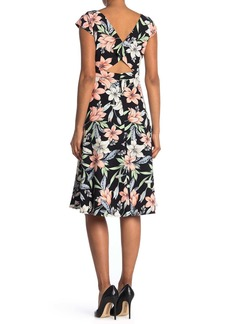 Maggy London Fit And Flare Open Back Dress