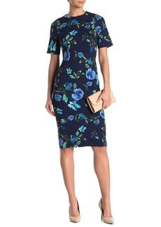 Maggy London Floral Print Sheath Dress (Regular & Plus Size)