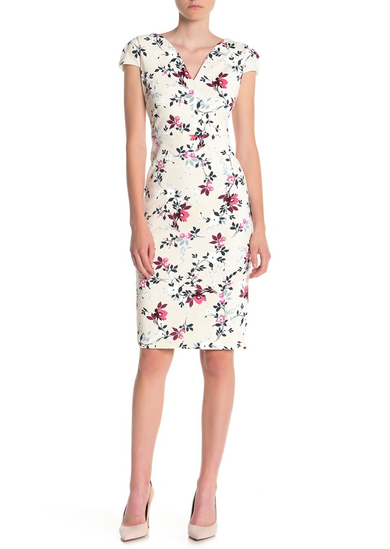 Maggy London Floral Sweetheart Sheath Dress