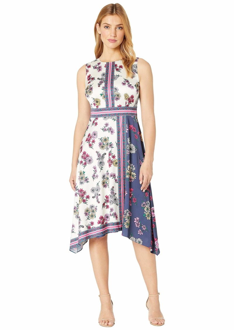 Maggy London Flower Garden Scarf Printed Fit and Flare