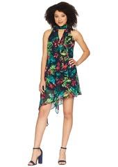 Maggy London Hot Tropics Printed Chiffon Swing Dress