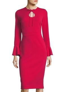 Joanna Tie-Neck Sheath Cocktail Dress
