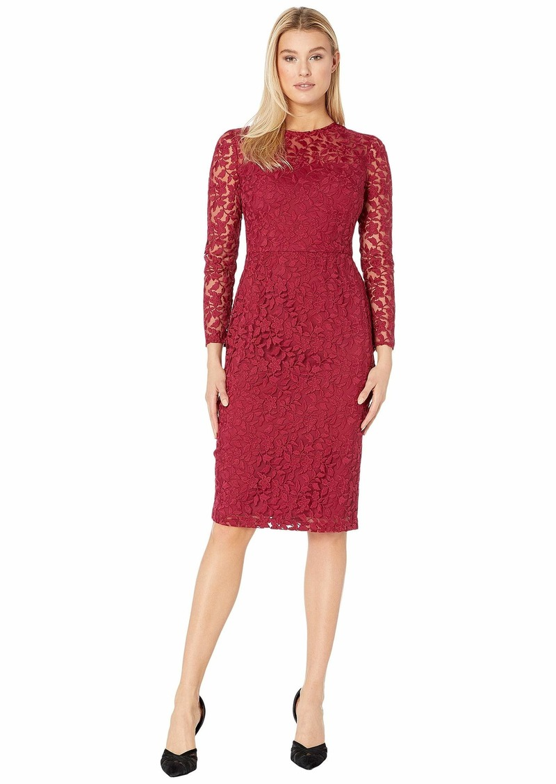Maggy London Leaf flower Embroidery Novelty Sheath Dress