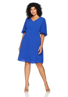 Maggy London London Times Curve Crepe Fit & Flare