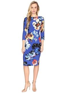 Maggy London Artistic Bloom Jersey Sheath Dress