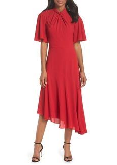 Maggy London Asymmetrical Midi Dress (Regular & Petite)