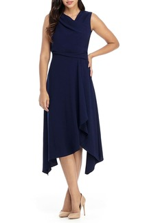 Maggy London Asymmetrical Neck Dress