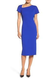 Maggy London Asymmetrical Sheath Dress (Regular & Petite)