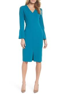 Maggy London Bell Sleeve Sheath Dress