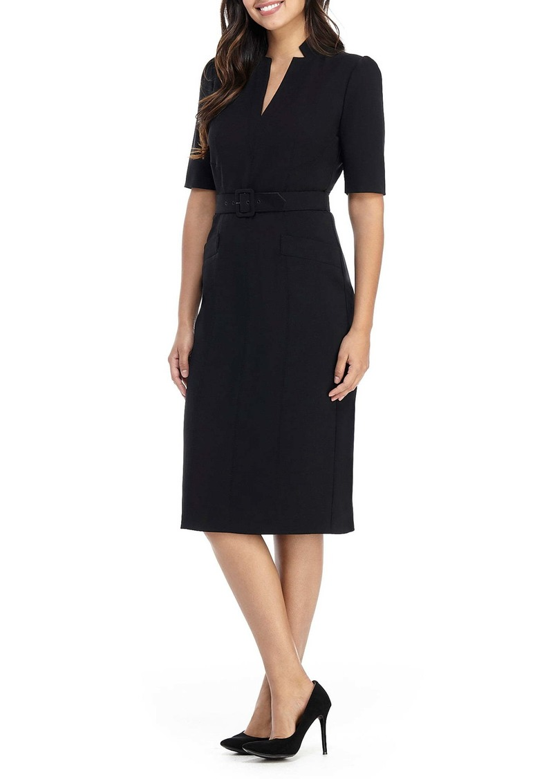 Maggy London Belted Sheath Dress