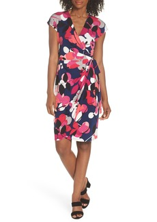 Maggy London Berry Floral Wrap Dress