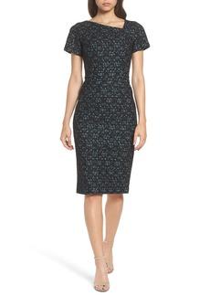Maggy London Bonded Lace Sheath Dress